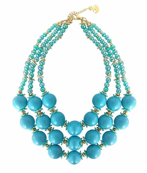 Hermoso collar de esferas de aquamarine by Giancarlo Miranda  Aquamarine ... nuevas joyas de Ianka collar de esferas