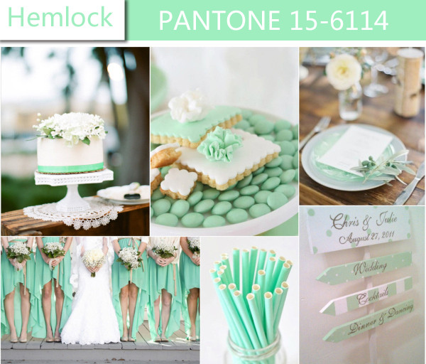 modern-hemlock-mint-green-2014-wedding-colors-trends-for-spring-ideas  los colores del 2014 modern hemlock mint green 2014 wedding colors trends for spring ideas