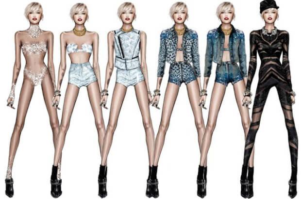 Diseños de Roberto cavalli para Miley cyrus  Roberto Cavalli para Miley Cyrus cavalli1