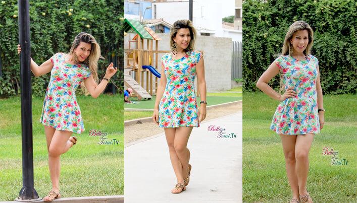 una de las tendecias de este verano mini vestido floral
