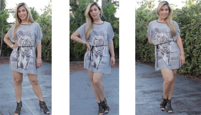 Moda_fashion  vestido de verano en otoño Moda fashion