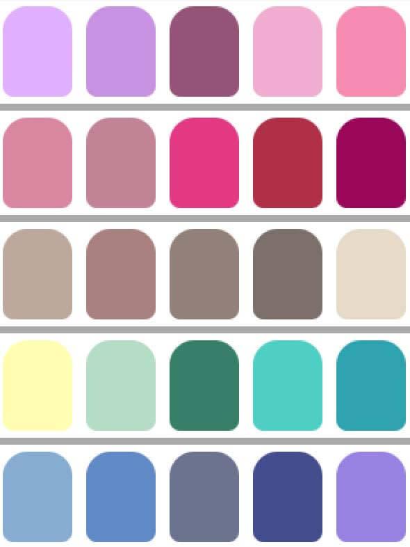 los colores en colorimetria ayudan alas personas a saber que colores les favorecen  Colorimetria : los Colores  que te queda bien !! paleta de color verano