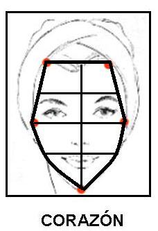 tipos de rostros  Tipo de rostros corazon