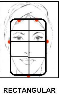 rectangular  Tipo de rostros rectangular