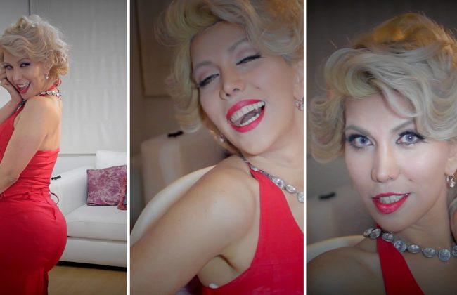 maquillaje y peiando de marilyn monroe